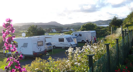 Knockalla Caravan & Camping Park Donegal beautiful camping sites