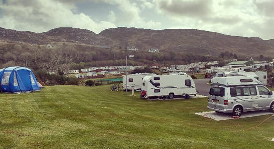 Knockalla Caravan & Camping Park Donegal with Water, Electric and Bathrooms