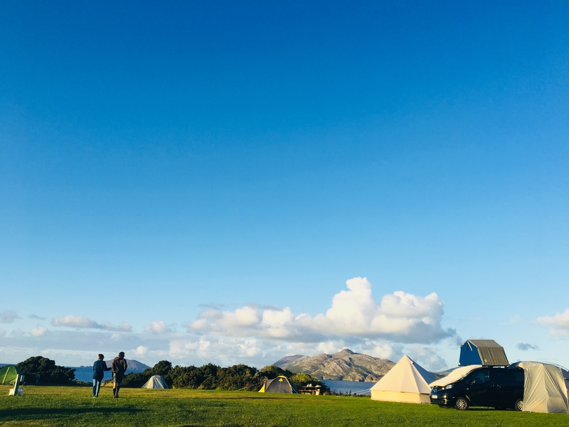 Tents sea views Donegal camping